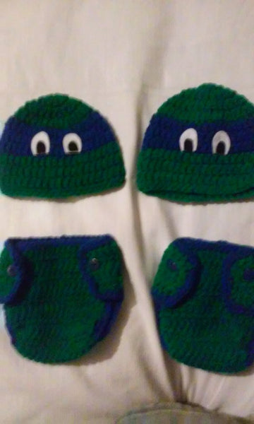 Ninja turtle inspired newborn set