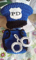 Policemen newborn diaper set, photography prop