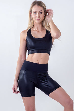 high shine energy kriss kross sports bra