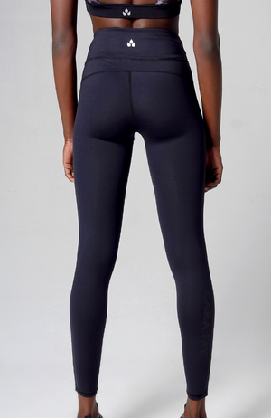 black high waisted long leggings