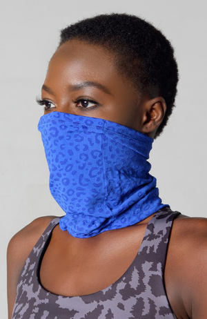 leopard print face cover for exercise