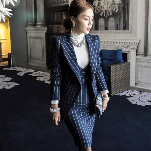 Beget Two Piece Dress Suit
