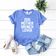 Dog Mother Brunch Lover - Blue Acid Wash T-Shirt