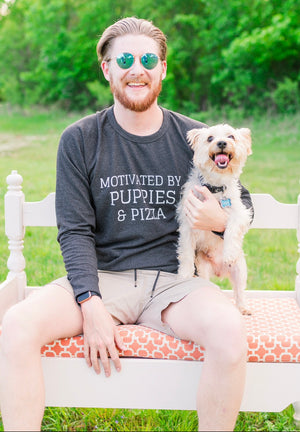 Motivated by Puppies and Pizza - Unisex Sweatshirt