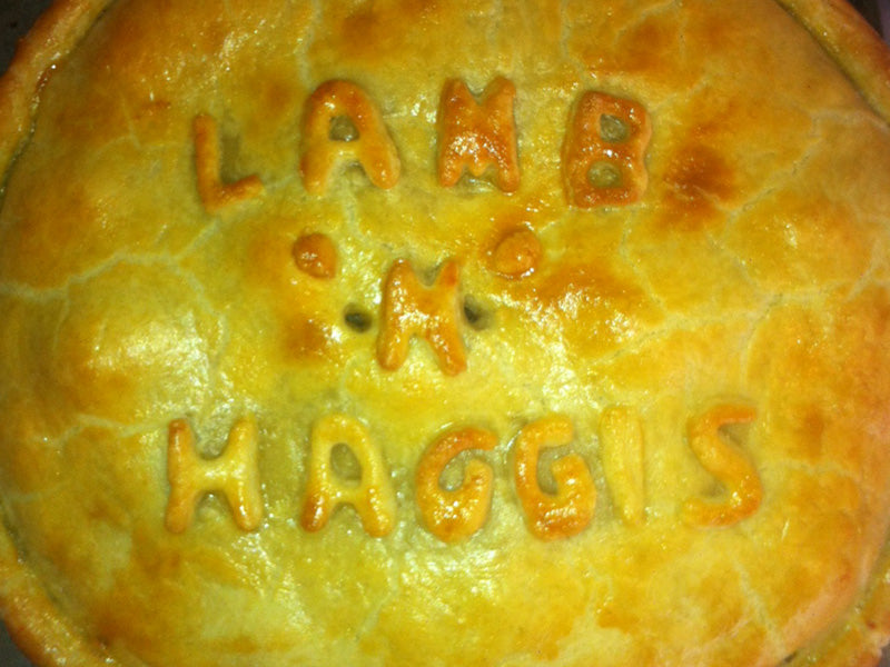 Celebrate Burns with a Lamb 'n' Haggis pie.