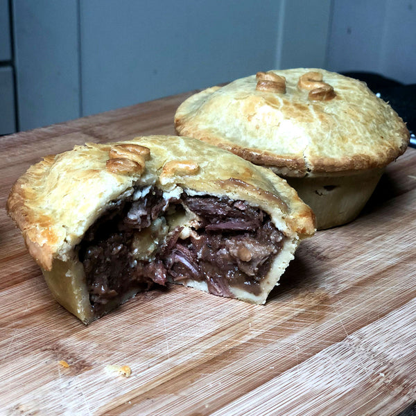 Steak Red Wine and Stilton Pie