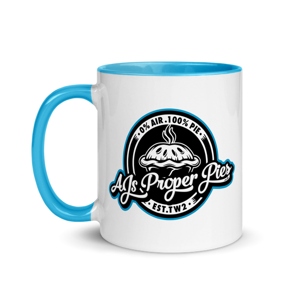 AJs Proper Pies Mug with Colour Inside
