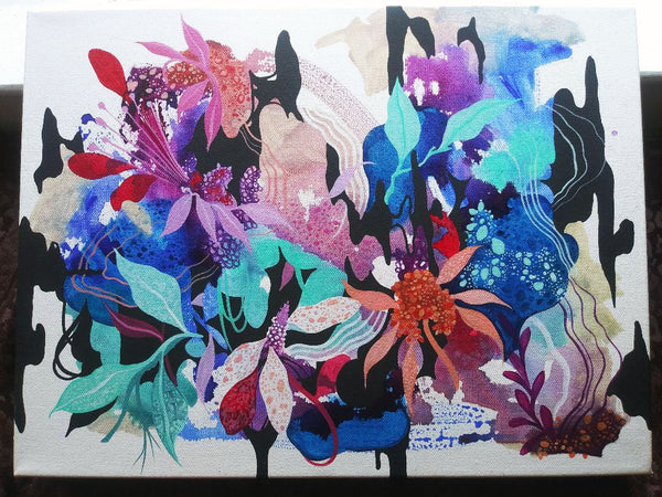 Botanic Flow ORIGINAL PAINTING on CANVAS