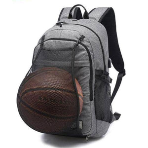 Basketball/Soccer-ball Backpack With Integrated USB Charging Port - Optimal Artifact