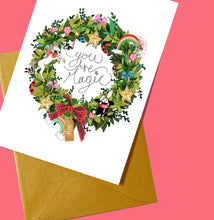 Load image into Gallery viewer, Personalised 'You are Magic' Wreath Print/Card