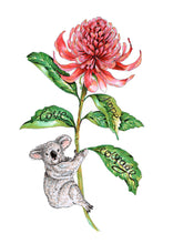 Load image into Gallery viewer, Hope, Love, Courage - Australia Flower (with or without Koala)