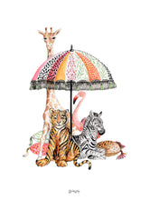 Load image into Gallery viewer, 'Better Together' - Animals Parasol Illustration