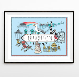 Brighton Location Print