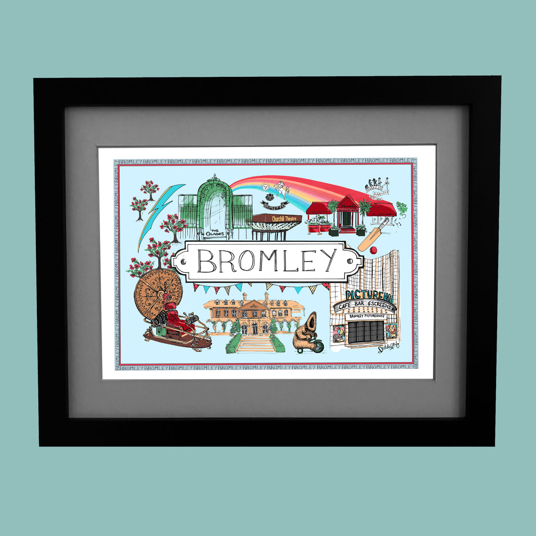 Bromley Location Print (in colour)