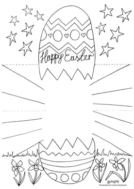 *FREE* PRINTABLE EASTER COLOURING CARD