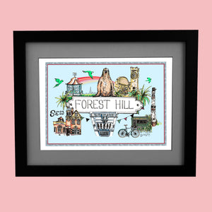 Forest Hill Location Print