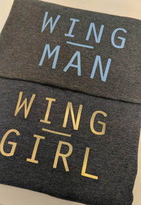 WING MAN T-SHIRT - 'EMBRACING MY BLUES' CAMPAIGN CHARITY TEE