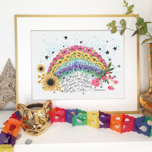 Frida Kahlo Flower Rainbow