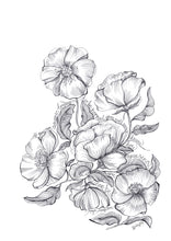 Load image into Gallery viewer, Floral Pen Drawing with quote by Maya Angelou