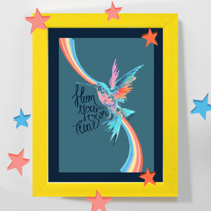 'Hum Your Own Tune' Hummingbird Print