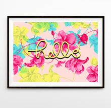 Load image into Gallery viewer, 'Hello' - floral print