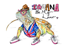 Load image into Gallery viewer, IGUANA Be My Lover? - Illustration inspired by Spice Girls