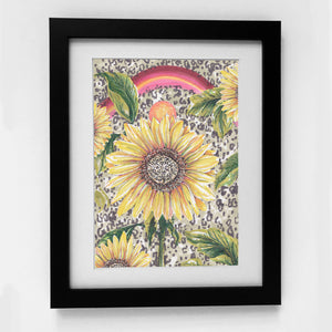 SUNFLOWER RAINBOW PRINT - 'WHAT IS IT YOU PLAN...'