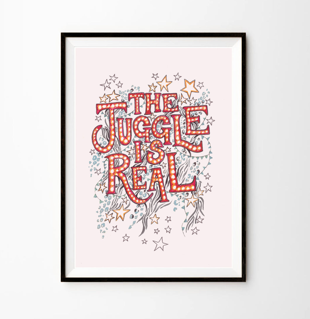 SHOW TIME PRINT 'THE JUGGLE IS REAL'