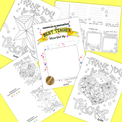 FREE Printable Gift/Activity Pack For Teacher