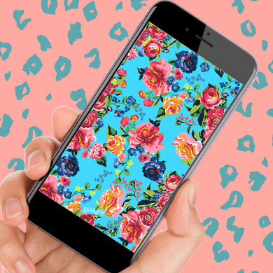 TURQUOISE ROSES - Phone and Desktop Available