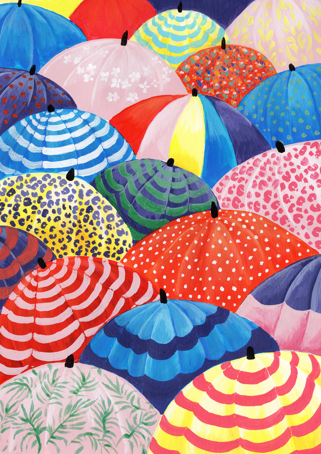 Umbrellas Illustration