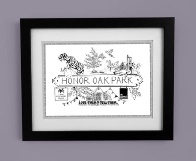 Honor Oak Park 'Illustrated Location'