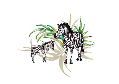 Zebra Mum/Dad with Child