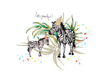 Load image into Gallery viewer, Zebra Mum/Dad with Child