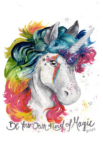 Bowie Glamrock Unicorn - 'Be your own kind of magic'