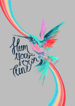 Load image into Gallery viewer, 'Hum Your Own Tune' Hummingbird Print