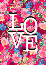 Load image into Gallery viewer, 'LOVE' pink floral print