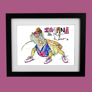 IGUANA Be My Lover? - Illustration inspired by Spice Girls