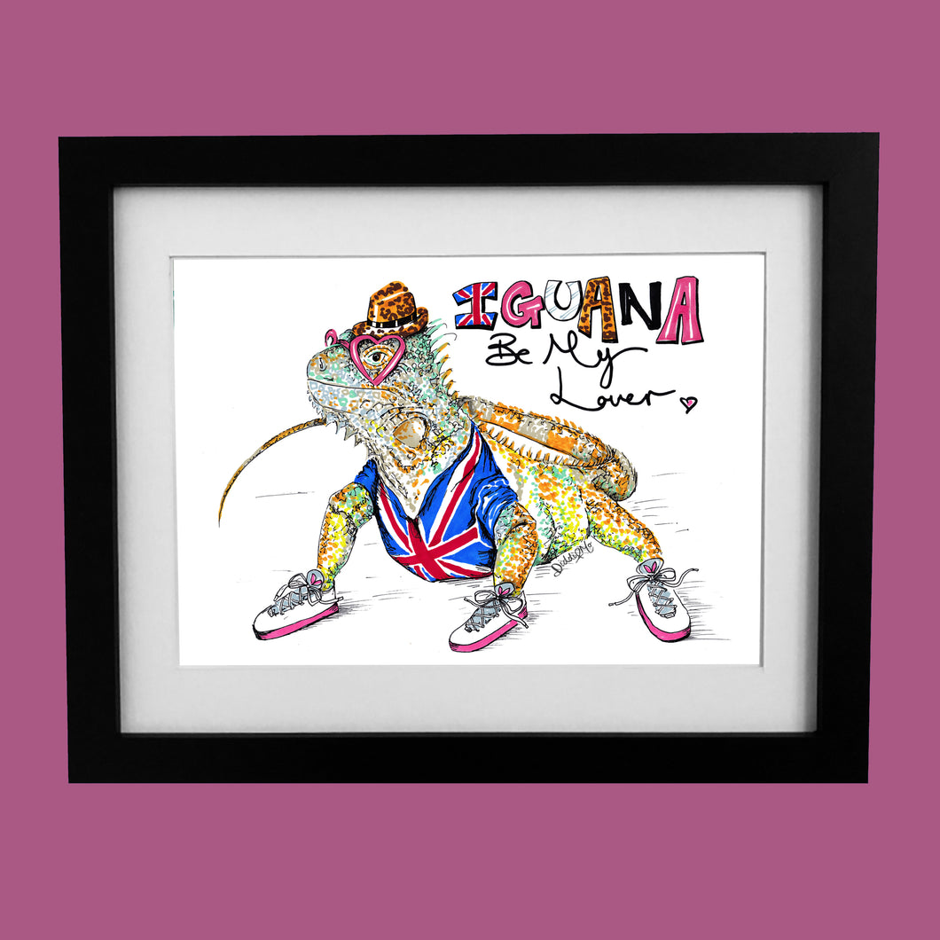 IGUANA Be My Lover? illustration inspired by Spice Girls