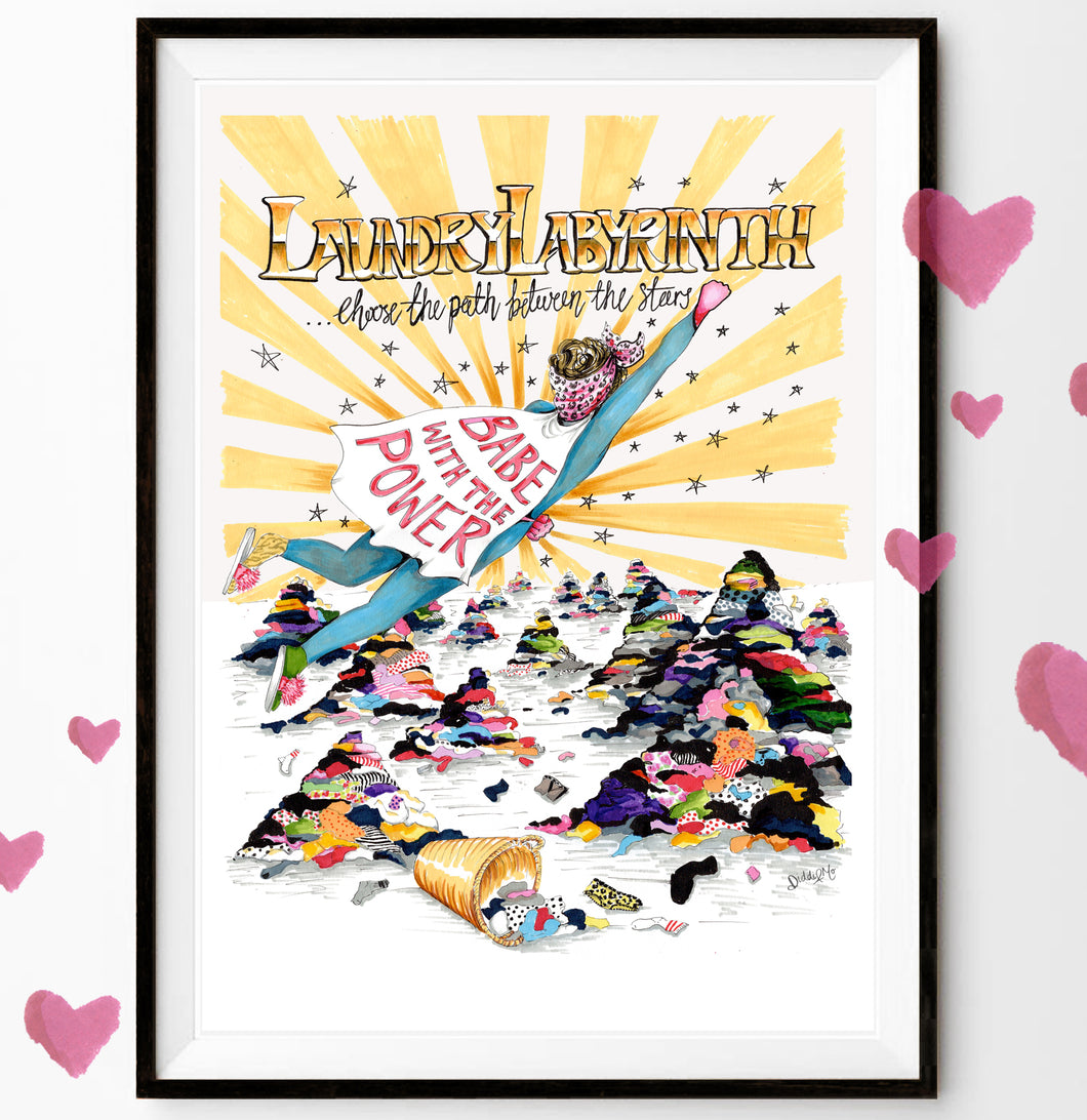 Laundry Labyrinth 'Babe With The Power' Print