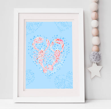 You Are My Lobster Print - personalisation optional