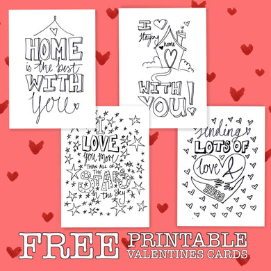 *FREE* PRINTABLE Valentines Colour In Cards