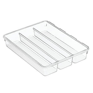 iDesign InterDesign Linus Interlocking Drawer Organizer Cutlery Tray for Forks, Spoons, Knives - Clear, 2XL