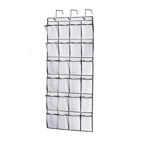 LIKE SHOP Hanging Over The Door Shoe Organizer 24 Large Mesh Pockets, Non-woven Fabric Storage Bag