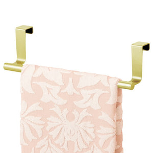 "mDesign Over-the-Cabinet Kitchen Dish Towel Bar Holder - 9"", Pearl Gold"
