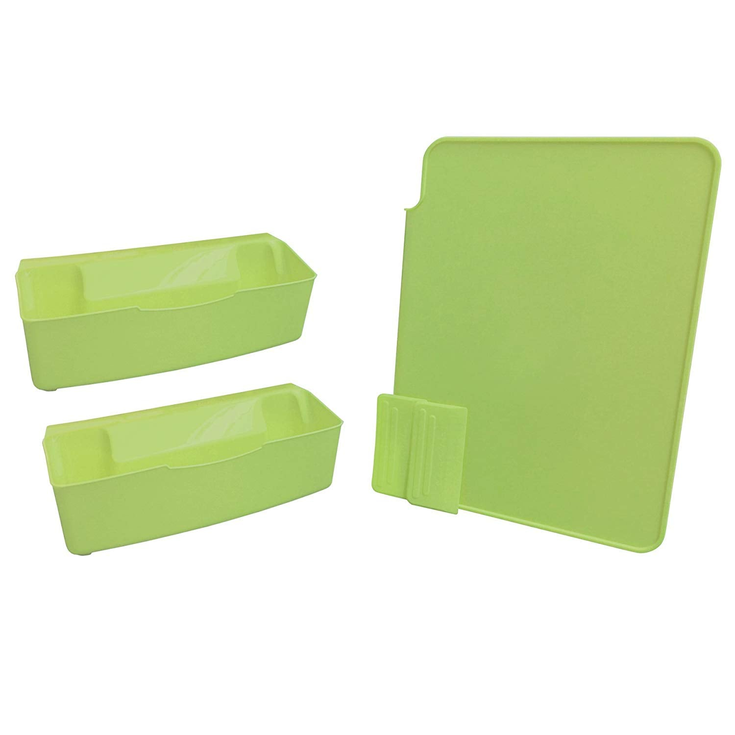 Performance Cutting Board Counter Catcher Dishwasher Safe Home Kitchen Tools Set, Kiwi