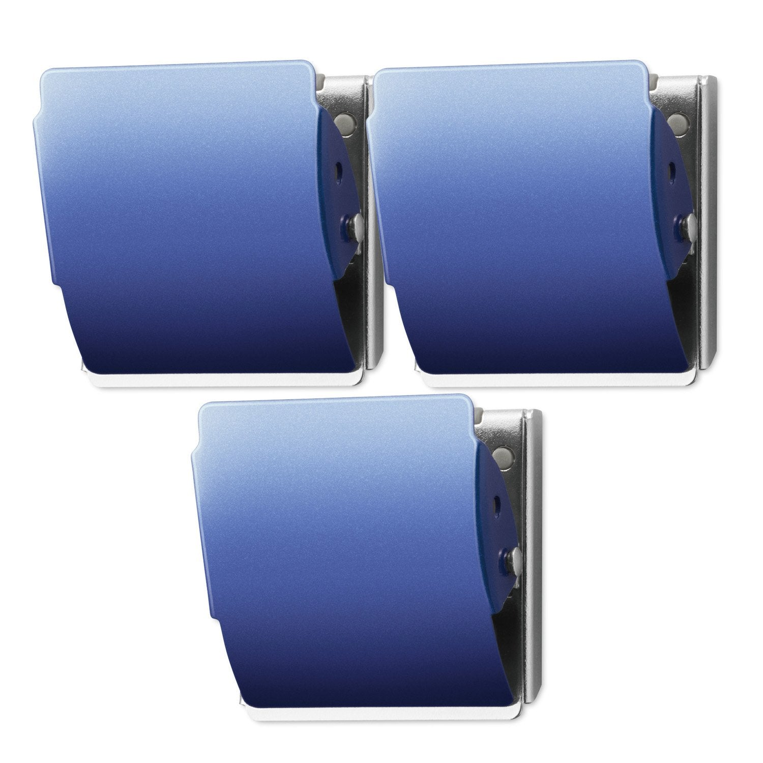 PLUS Extra Strong Magnetic Clip LARGE Blue - 3 Pack