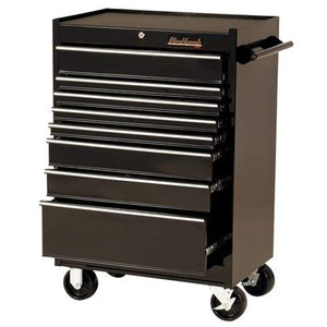 "Blackhawk By Proto 92708R 27"" Rolling Tool Cabinet 8 Drawer - Black"