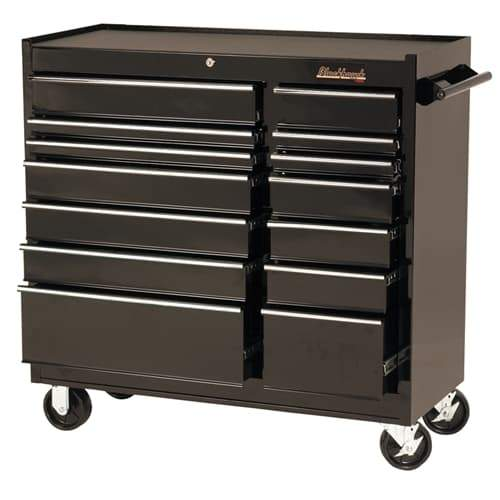 "Blackhawk By Proto 94114R 41"" Rolling Tool Cabinet 14 Drawer - Black"