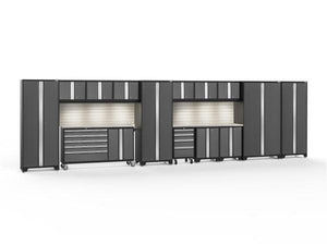 NewAge Bold 3.0 Grey 15 Piece Set with Lights w/Stainless Steel Worktop